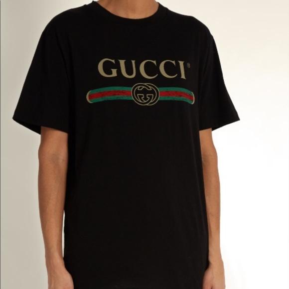 93e211fdacf6 Oversize sweatshirt with Gucci logo Source · Gucci Shirts Logo Shirt Mens  Xxl Womens 18 Size Poshmark