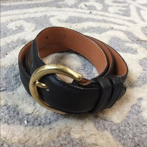Genuine Coach Black Leather Belt