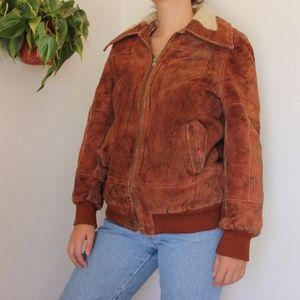 Vintage Leather Suede Jacket