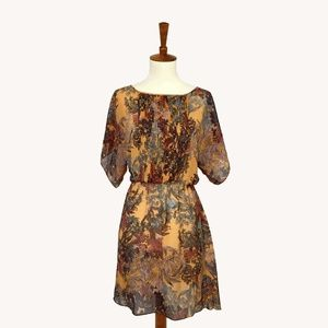 Anthropologie Fall Floral Dress