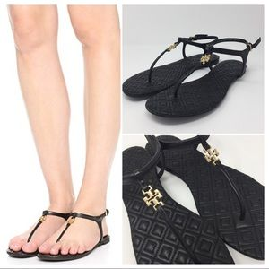 TORY BURCH MARION QUILTED SANDALS SZ 8