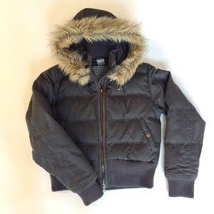 Nike Women's Down Hooded Jacket. Grey. S (US 4-6)