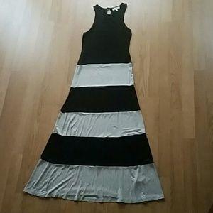 Black and Grey Maxi Dress NWOT