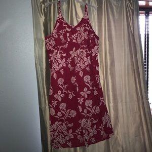 Red summer dress