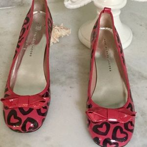 Marc By Marc Jacobs Pink/Black Heart Print