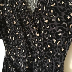 Apt 9 faux wrap animal print dress
