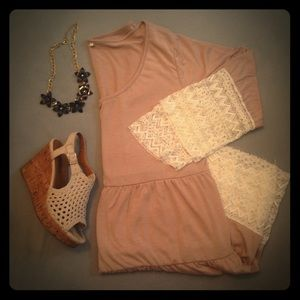 tshirt dress with lace