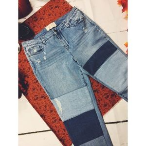 RACHEL Rachel Roy Patch Distress Skinny Jeans 30