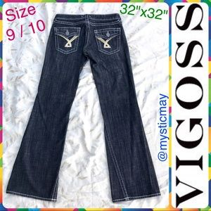 VIGOSS Ladies Charcoal Black Flare Cut Denim Jeans