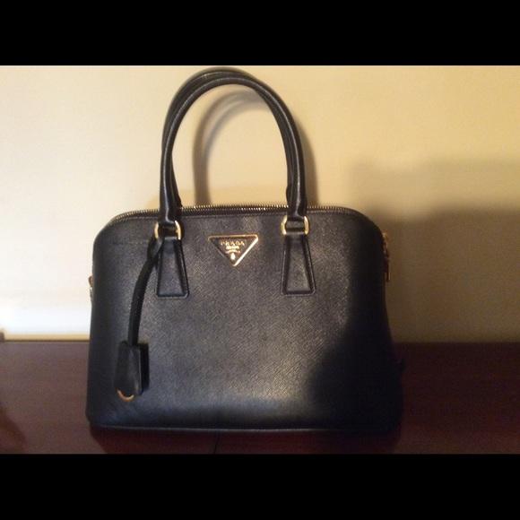 Tote - Bauletto Saffiano Lux Small Black - gold, black - Tote for ladies Prada