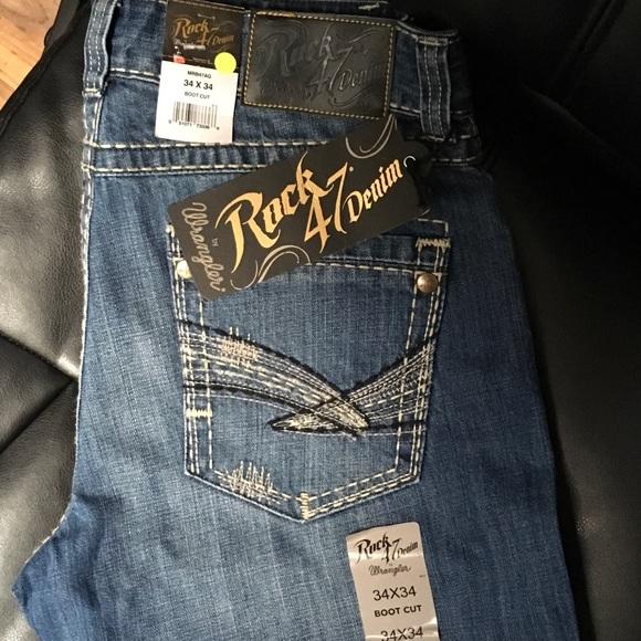 Wrangler Rock 47 >> Men S Wrangler Rock 47 Jeans Bootcut Never Worn Nwt