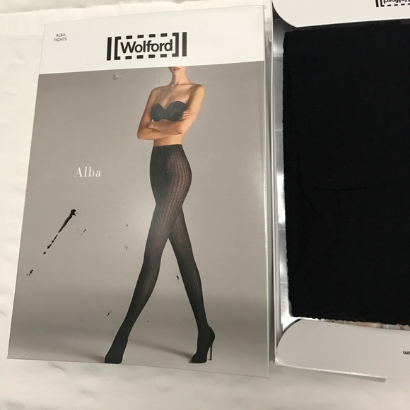 a916f856bfd NIB Wolford Alba Tights 7005 Black Sz S