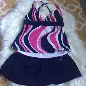 2 piece nike bathing suit size 6