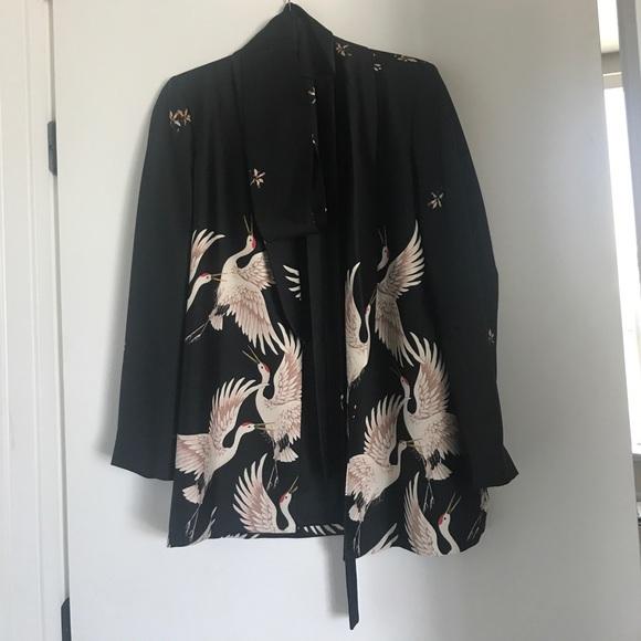 Zara Jackets & Coats | Crane Kimono Blazer | Poshmark