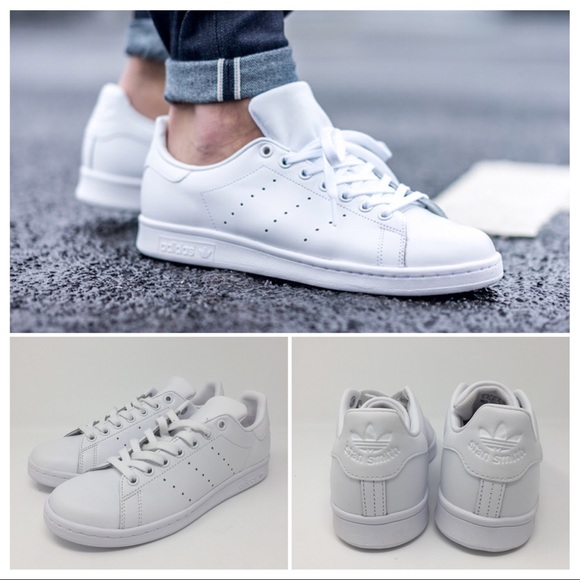 Adidas Mens White Stan Smith Sneakers