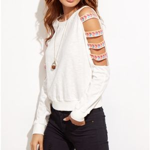 Tops - BRAND NEW White Ladder Cutout Shirt