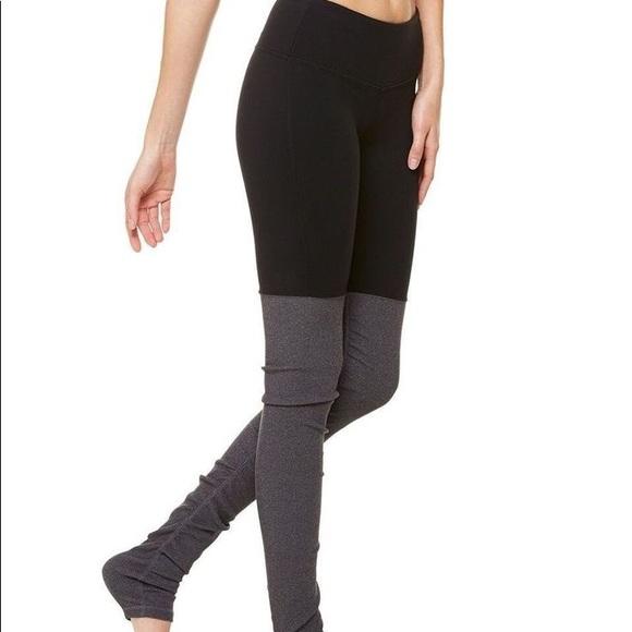 b0e973e9ce3ba ALO Yoga Pants | Goddess Rib Leggings Blackstormy Heather | Poshmark