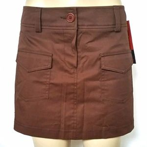 TRINA TURK Brown Mini Skirt Size 10 Front Pockets