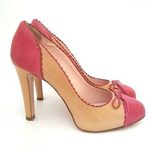 RED Valentino Two-Toned Patent Leather Pump