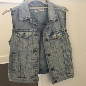 Madewell blue jean vest