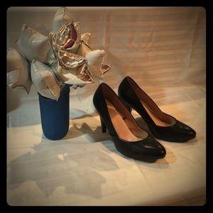 Forever 21 retro black heels