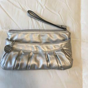 ELLE silver clutch