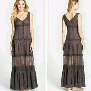 Free people Victorian style maxi dress