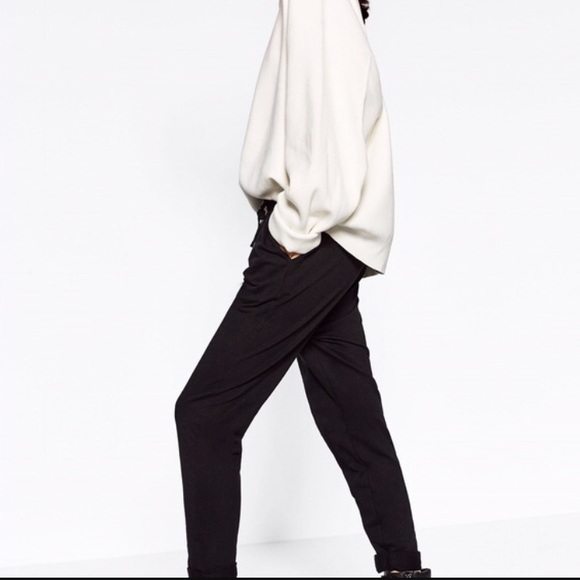 5436c202 Zara Pants | Woman Crepe Black Joggers Small | Poshmark