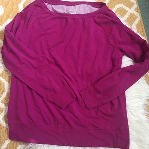 fushia long sleeve nike sweater size XL