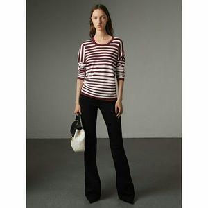 Burberry Graduated Striped Merino Wool Sweater