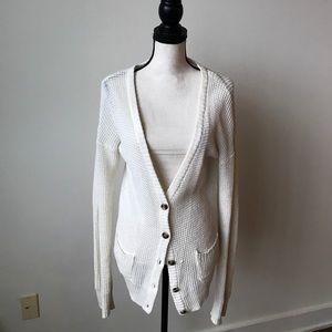 4/$25 White cotton sweater