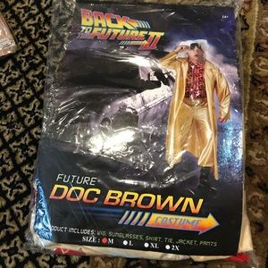 NWT Back to the future Doc Brown Costume