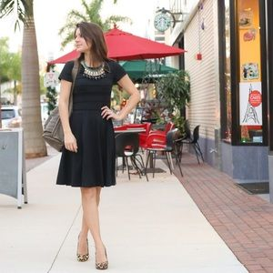 Black Cynthia Rowley skater dress