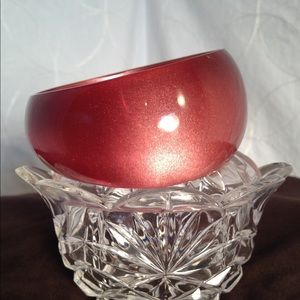 Jewelry - Large Red Recessed Bangle