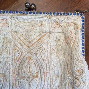 Antique Seed Bead Handmade Vintage Twenties Purse