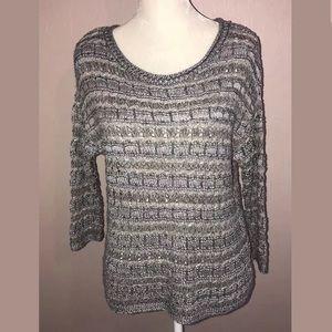 NWT Lucky Brand Metallic Loose Knit Sweater M