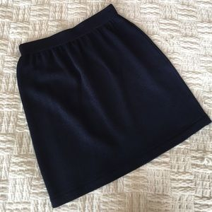 St. John Collection Navy Santana Knit Skirt