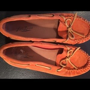 Orange moccasins by Lucky Brand size 10