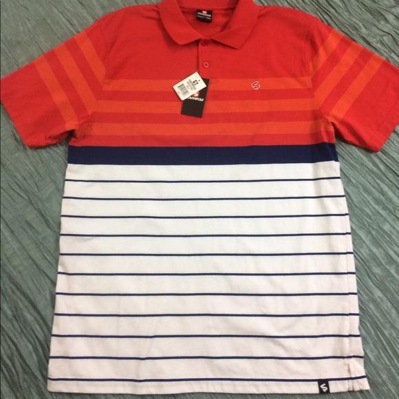 e5f9a8284e0c5 New South Pole polo shirt red white blue stripe