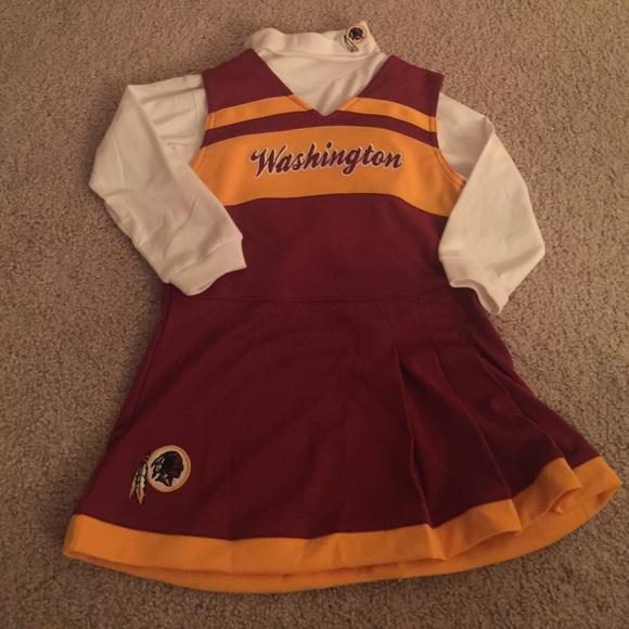 Toddler Girl Redskins Cheerleader Costume. M 59d819d7f0137dbd41026f51 7f9ae8650