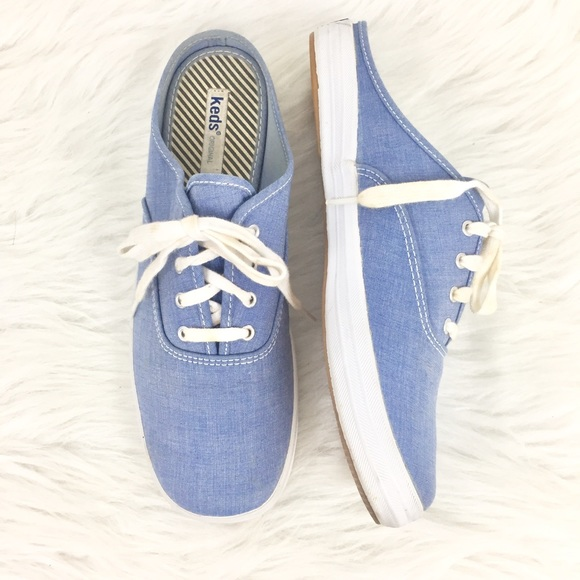 0c2a0a7b35b Keds Shoes - Keds 90s Slip On Chambray Mule Sneakers