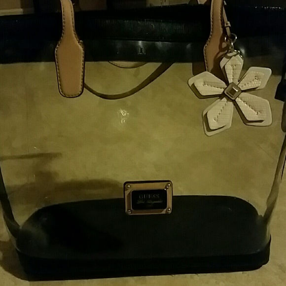 0dff45c583b4 Guess Handbags - Guess Clear Tote