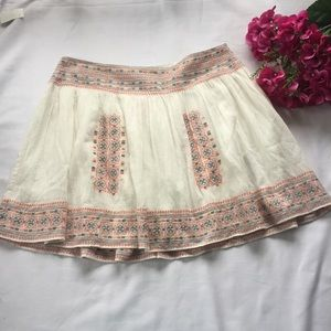 FINAL NWT Joie Shandon Embroidered Pleated Skirt