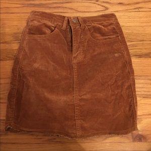 Dresses & Skirts - Brown corduroy skirt - NWOT