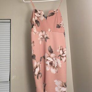 Charlotte Russe Tan Flower Dress