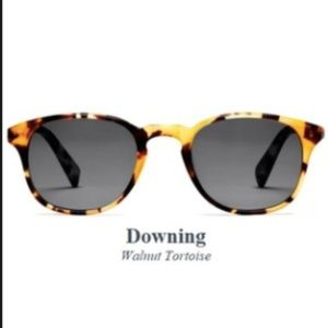 Warby Parker downing sunglasses, walnut tortoise