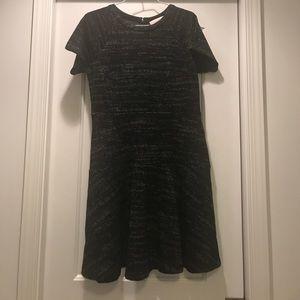 Loft black and gray short sleeve dress