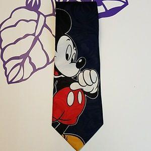 Disney Mickey Mouse navy blue necktie.        T013