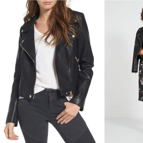 a348e1b07 BlankNYC black leather life changer moto jacket
