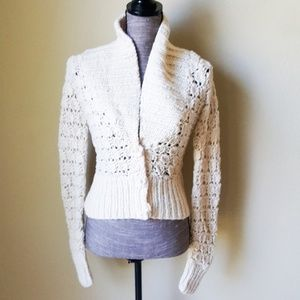 Sweaters - Knit V- Neck Cardigan Sweater Top